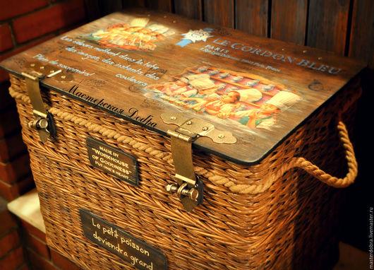 """Мебель ручной работы. Ярмарка Мастеров - ручная работа. Купить Сундук плетеный """"120 лет традиций вкуса"""". Handmade. Тумба"""