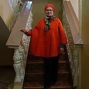 Одежда ручной работы. Ярмарка Мастеров - ручная работа Валяный Кейп-салоп -пончо Проба сил. Handmade.