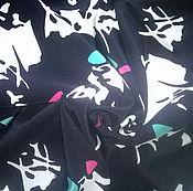 Материалы для творчества handmade. Livemaster - original item Crepe de Chine patterned cut of 5,20 m. vintage fabric. soviet union.. Handmade.