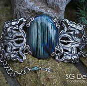 "Украшения handmade. Livemaster - original item Silver plated Bracelet ""Karna"" Labradorite. Handmade."