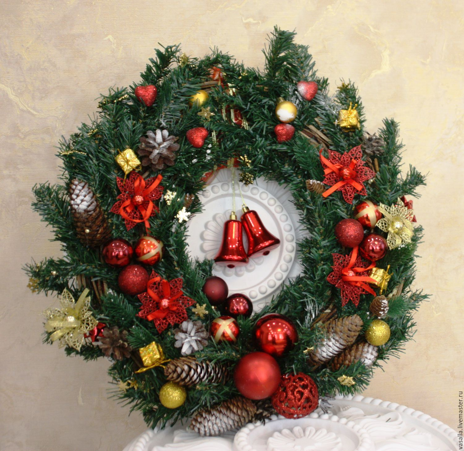 wedding accessories handmade livemaster handmade buy christmas wreath winter holiday - Cheap Christmas Decorations Online