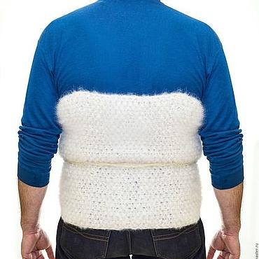 Одежда ручной работы. Ярмарка Мастеров - ручная работа Пояс самоедский прогревающий белый. Handmade.
