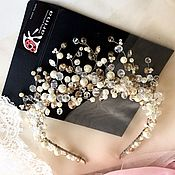 Свадебный салон handmade. Livemaster - original item Wedding tiara