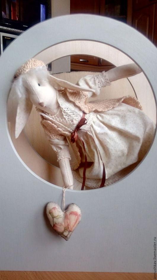 Куклы Тильды ручной работы. Ярмарка Мастеров - ручная работа. Купить Зая. Handmade. Бежевый, тильда заяц, интересный подарок