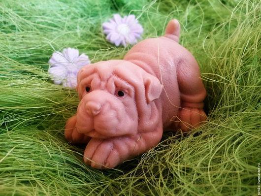 Мыло ручной работы. Ярмарка Мастеров - ручная работа. Купить Мыло щенок шарпей для детей и взрослых для себя и в подарок. Handmade.