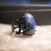 Украшения handmade. Livemaster - original item Ring with sodalite.. Handmade.