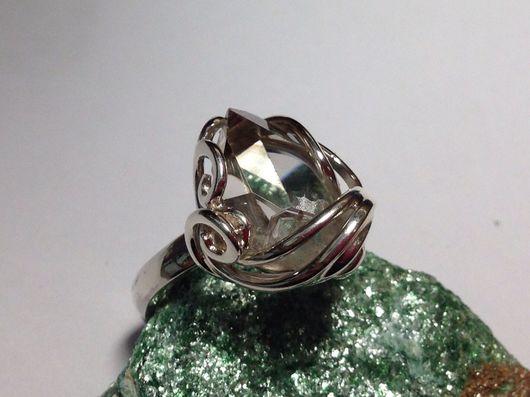 Кольца ручной работы. Ярмарка Мастеров - ручная работа. Купить Кольцо с алмазом херкимера в серебре. Handmade. Кольцо, родирование