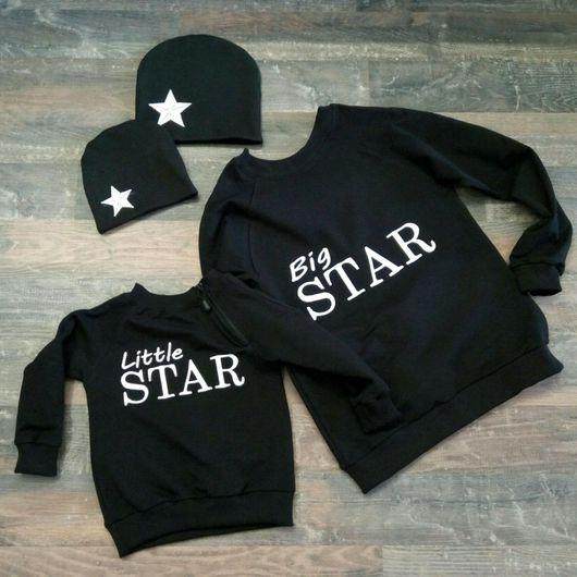 """Кофты и свитера ручной работы. Ярмарка Мастеров - ручная работа. Купить Свитшот """"STARS"""". Handmade. Свитшот, для девочки, вышивка на заказ"""