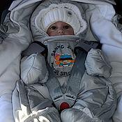 """Комплекты одежды ручной работы. Ярмарка Мастеров - ручная работа Комплект  для новорожденного """"Солнечный зайчик"""" серый. Handmade."""