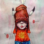 Картины и панно ручной работы. Ярмарка Мастеров - ручная работа Вождь Краснокожих. Handmade.