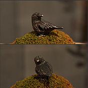 Материалы для творчества handmade. Livemaster - original item Three-eyed raven charm. Handmade.