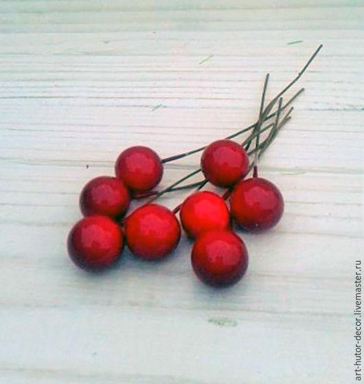 Материалы для флористики ручной работы. Ярмарка Мастеров - ручная работа. Купить ПРОДАНЫ Ягоды на проволоке красные, красные ягоды вишни. Handmade.