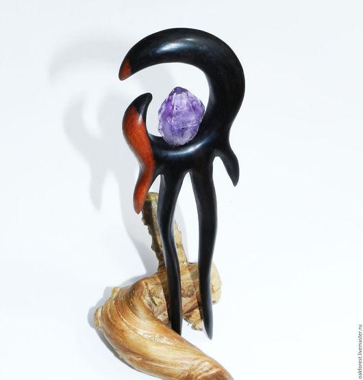 """Заколки ручной работы. Ярмарка Мастеров - ручная работа. Купить Заколка для волос из дерева """"Царица Египта"""" (эбен). Handmade."""