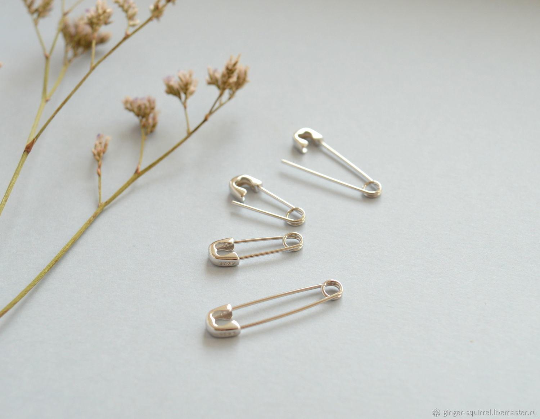 Silver pin. Earring, Earrings, St. Petersburg,  Фото №1