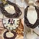 Авторские роскошные украшения на шею из натурального речного жемчуга колье бусы жемчужное ожерелье купить в интернете в Москве фото цена