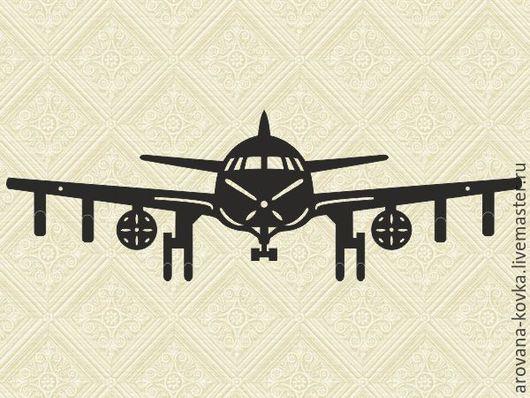 """Прихожая ручной работы. Ярмарка Мастеров - ручная работа. Купить Вешалка настенная """"Самолет"""". Handmade. Черный, вешалка настенная"""