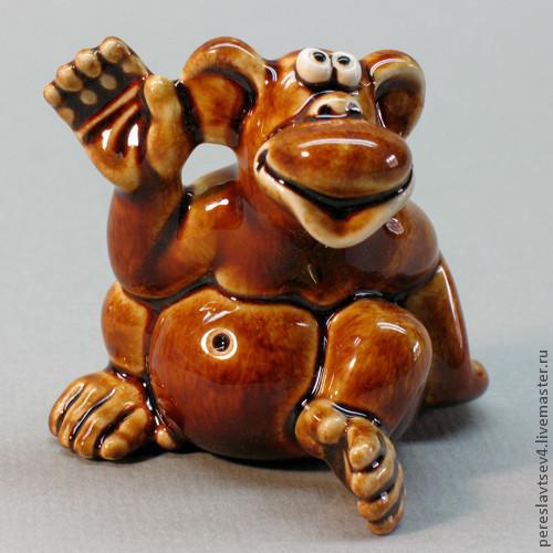 Миниатюра ручной работы. Ярмарка Мастеров - ручная работа. Купить Обезьяна символ 2016 года. Handmade. Обезьяна, сувенир обезьяна