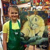 handmade. Livemaster - original item Certificate for a full-time master class of oil painting for children of St. Petersburg. Handmade.