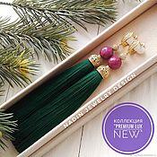 """Украшения ручной работы. Ярмарка Мастеров - ручная работа Серьги кисти """"Premium Lux New Green"""". Handmade."""