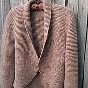 handmade. Livemaster - original item Jacket knitted double-sided Nutmeg from lamb wool. Handmade.