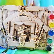 Материалы для творчества handmade. Livemaster - original item Bird feeder Baba Yaga`s Hut, a blank for creativity. Handmade.