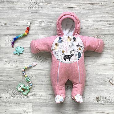 Товары для малышей ручной работы. Ярмарка Мастеров - ручная работа Комбинезон для малышей Little-Kiddy Медведи. Handmade.