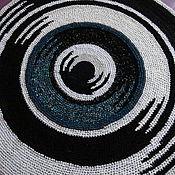 """Для дома и интерьера ручной работы. Ярмарка Мастеров - ручная работа Ковер текстильный """"Новый Инь и Ян"""". Handmade."""