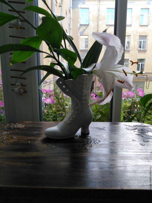 Винтажные предметы интерьера. Ярмарка Мастеров - ручная работа. Купить Чудесная вазочка для цветов (необычный дизайн). Handmade. Вазочка для цветов