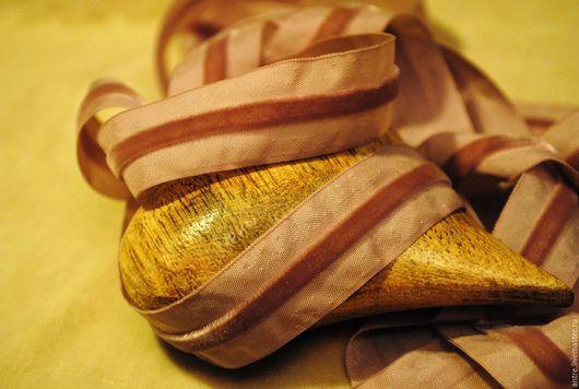 """Шитье ручной работы. Ярмарка Мастеров - ручная работа. Купить Лента с бархатной полосой """"Пыльная роза"""" (Тай). Handmade. Лента"""