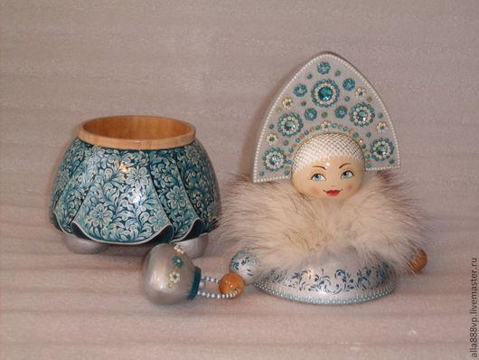 Шкатулки ручной работы. Ярмарка Мастеров - ручная работа. Купить Кукла - шкатулка из дерева Снегурочка Модница. Handmade. подарок девушке