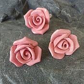 """Украшения ручной работы. Ярмарка Мастеров - ручная работа комплект """"коралловые розы"""" фарфор. Handmade."""