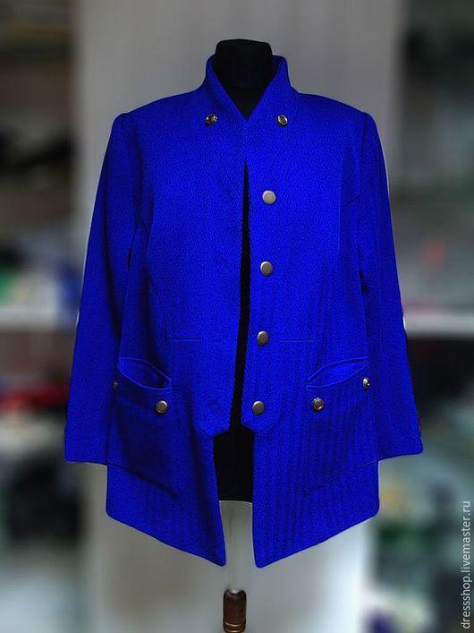Пиджаки, жакеты ручной работы. Ярмарка Мастеров - ручная работа. Купить Пиджак на большой размер. Handmade. Тёмно-синий, пиджак