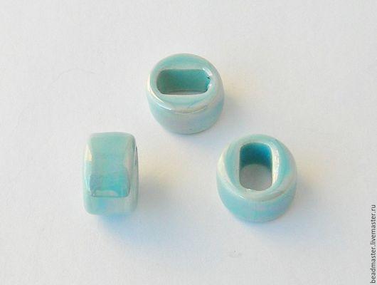 Для украшений ручной работы. Ярмарка Мастеров - ручная работа. Купить Бусина керамическая Регализ (БКР6). Handmade. Голубой, регализ