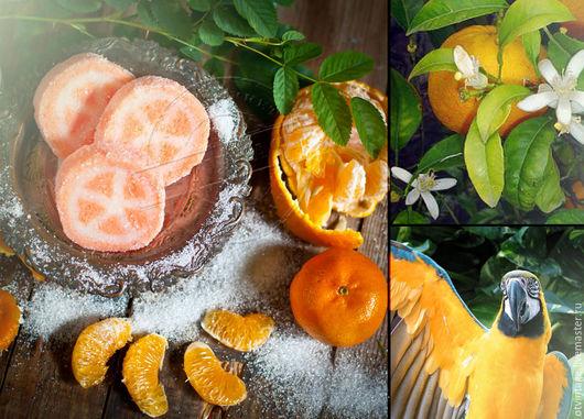 """Скраб ручной работы. Ярмарка Мастеров - ручная работа. Купить Сахарный скраб """"Сочный апельсин"""". Handmade. Оранжевый, скраб для лица"""