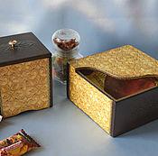 """Для дома и интерьера handmade. Livemaster - original item Набор для кухни  . Кухонный набор. Набор для кухни """"Горький шоколад"""". Handmade."""