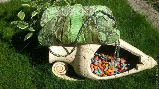 Женские сумки ручной работы. Ярмарка Мастеров - ручная работа. Купить Клатч из кожи питона. Handmade. Клатч, распродажа