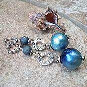 Украшения handmade. Livemaster - original item Cotton pearl earrings-CLOUDS. Handmade.