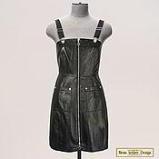 Одежда handmade. Livemaster - original item Madina sundress made of genuine leather/suede (any color). Handmade.