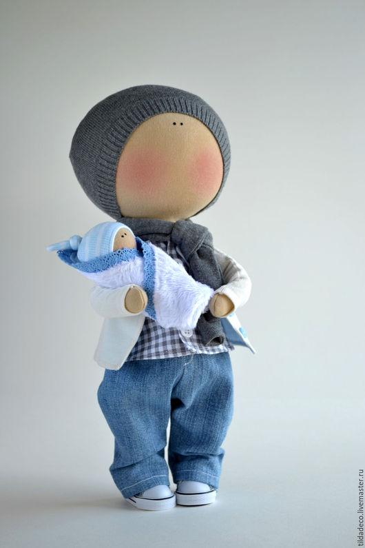 Коллекционные куклы ручной работы. Ярмарка Мастеров - ручная работа. Купить Интерьерная текстильная кукла-мальчик Danny. Handmade. хлопок
