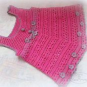 Работы для детей, ручной работы. Ярмарка Мастеров - ручная работа Сарафанчик розовый для девочки. Handmade.