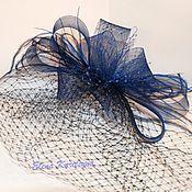"""Диадемы ручной работы. Ярмарка Мастеров - ручная работа Вечерняя шляпка-вуалетка """"Нолла"""". Handmade."""
