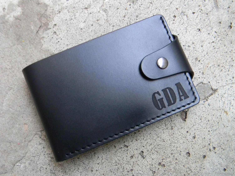 Men's wallet, black, Wallets, Kineshma,  Фото №1