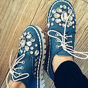 Обувь ручной работы. Ярмарка Мастеров - ручная работа Светлая джинса,обувь. Handmade.