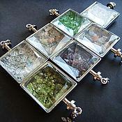 Украшения ручной работы. Ярмарка Мастеров - ручная работа Медальоны с самоцветами. Handmade.
