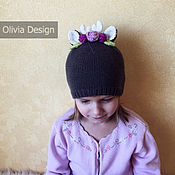 Работы для детей, ручной работы. Ярмарка Мастеров - ручная работа Шапочка Оленёнок в цветах. Handmade.