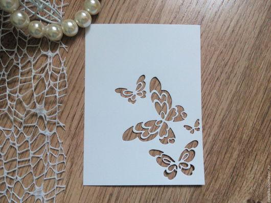 Открытки и скрапбукинг ручной работы. Ярмарка Мастеров - ручная работа. Купить !Вырубка для скрапбукинга- ФОН-Бабочки-дизайнерский картон. Handmade.