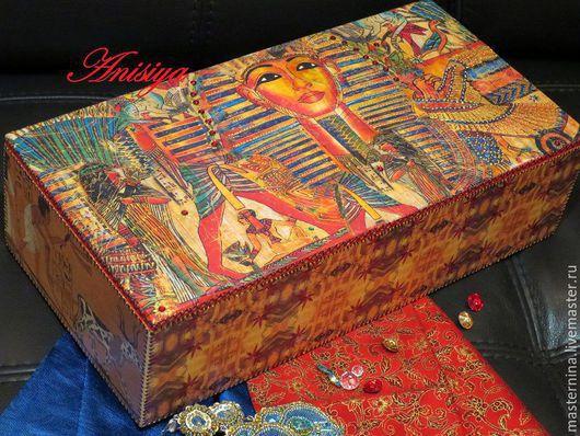 Корзины, коробы ручной работы. Ярмарка Мастеров - ручная работа. Купить Шкатулка в этно стиле Загадки Египта. Handmade. фараон