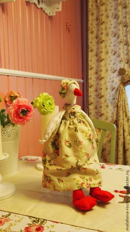 Ароматизированные куклы ручной работы. Ярмарка Мастеров - ручная работа. Купить Ароматическая гусыня Розали подарок на день Святого Валентина. Handmade.