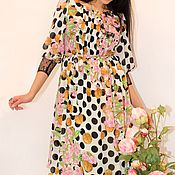 """Одежда ручной работы. Ярмарка Мастеров - ручная работа Для Вас! Нежнейшее платье""""Сакура"""". Handmade."""