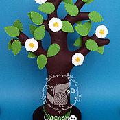 """Куклы и игрушки ручной работы. Ярмарка Мастеров - ручная работа Развивающая игра - дерево из фетра """"Яблонька"""". Handmade."""